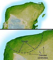 ¿Existió una civilización que coexistió con los dinosaurios? 220px-chicxulub_radar_topography