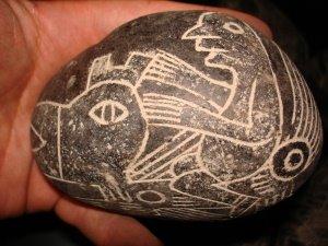 ¿Existió una civilización que coexistió con los dinosaurios? Hombre-volando-en-un-pteroldactilo-de-piedras-de-ica
