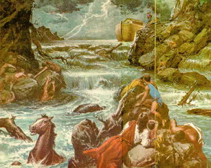 Resultado de imagen de Leonardo da vinci y el diluvio