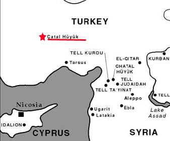 Resultado de imagen de catal huyuk mapa
